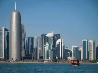 Burj Doha ('Doha Tower') along Al Corniche in West Bay (Doha)