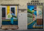 Casa Galguera mural on Calle Fortaleza in Old San Juan (Puerto Rico)