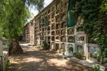 Burial plots at Cementerio General, the largest and most famous cemetary in Santiago de Chile