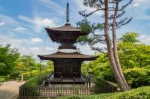 Pagoda in the grounds of Jōjakukō-ji in the Arashiyama district of Kyoto (Japan)