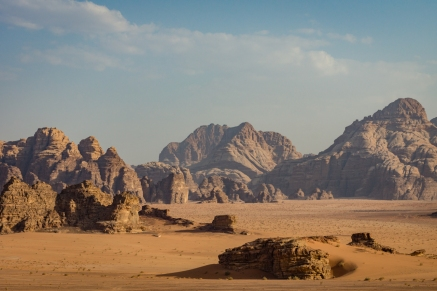 The otherworldly rock formations of Wadi Rum (Jordan)