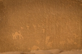 The Alameleh inscriptions, carved by Thamuds and Nabataeans, depict caravans and travelers in the desert.